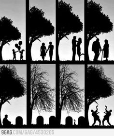 Circle of life. My life will definitely get down like this :)