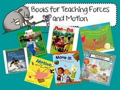 Books for teaching force and motion first grade science Second Grade Science, Science Week, Kindergarten Science, Science Classroom, Science Lessons, Teaching Science, Science For Kids, Teaching Ideas, Classroom Ideas