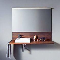 Duravit Pure Modern Elegant design for those Vital spaces Bathroom Furniture Design, Bathroom Sink Design, Bathroom Sink Faucets, Bathroom Fixtures, Modern Bathroom, Beautiful Bathrooms, Small Bathroom, Duravit, Console