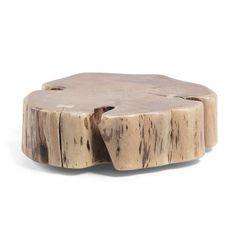 Rollbarer Couchtisch Mit Baumscheibe Akazie Massivholz Jetzt Bestellen  Unter: ...
