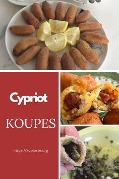 Koupes, is a street food we find in Cyprus, made of bulgur wheat and filled with ground meat, which is served as a snack or as part of a mezes dish. Greek Recipes, Desert Recipes, Cyprus Food, Mediterranean Dishes, Ground Meat, Greek Salad, Healthy Appetizers, Street Food, Natural Health
