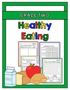 "The ""healthy eating"" activity packet for grade 2 is aligned with the 2015 ontario grade 2 health and physical education curriculum expectations. Healthy Food List, Healthy Food Choices, Heart Healthy Recipes, Healthy Living Tips, Healthy Eating, Healthy Foods, Physical Education Curriculum, Health And Physical Education, Nutrition Education"