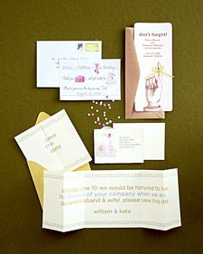 Clever Ways to Save the Date: Playful Cards Suggest the Fun to Come - Martha Stewart Weddings Planning & Tools Budget Wedding, Diy Wedding, Wedding Planning, Dream Wedding, Wedding Ideas, Wedding Vows, Wedding Stuff, Wedding Gifts, Diy Save The Dates