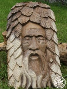 Fairtrade Solid wooden Green Man Plaque The Tree