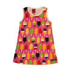 Lollipop Print Tank Dress - Raspberry Pink
