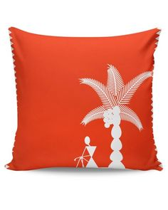 Buy Warli Cushion Cushion Cover Online India | PosterGuy