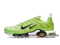 low priced 970d0 20965 Nike Air Max Plus Premium Chaussures Officiel Tn 2019 Pas Cher Pour Homme  Vert Noir 815994