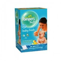 Maxi Pack de 192 Lingettes Bébés Pampers Baby Fresh - 3 Packs de 64 sur Couches Zone