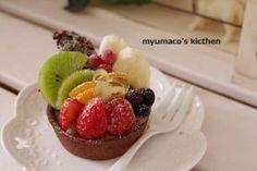 「フルーツチョコタルト」みゅまこ | お菓子・パンのレシピや作り方【corecle*コレクル】