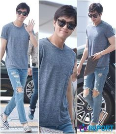 Lee Minho departing to Shanghai for a Semir event 140628