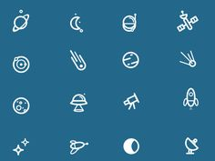 Vector Space Icons - Freebie
