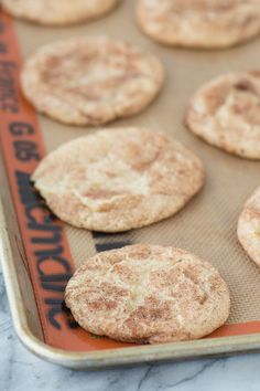 Caramel apple snickerdoodles - a fall twist on snickerdoodle cookies! These actually taste like caramel apple and remind me of those green caramel apple suckers!