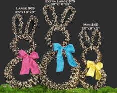 Bunny Wreath Easter Wreath Spring Wreath by EverBloomingOriginal