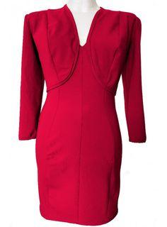 F.Girth Designer Leder Kleid schwarz