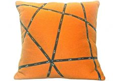 Orange Hermès Ribbon Pillow I