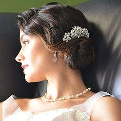 Amazon.com: Mariell Vintage Pearl and Mixed Crystal Sunburst Wedding, Bridal or Prom Hair Comb - Retro Glam: Mariell: Beauty