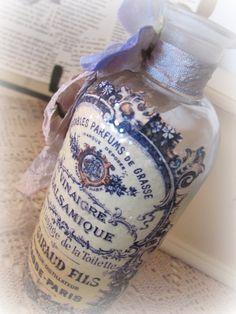 Casa De Muñecas boticario Poison Ivy hierba corta etiqueta de color y botella