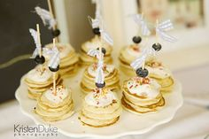 pancake themed birthday party | baby pancake stacks :) cute for sleepover mornings...make a bunch ...