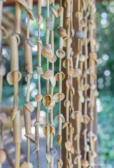 Rustic Log Furniture, Bamboo Wind Chimes, House Design Pictures, Privacy Screen Outdoor, Dream Beach Houses, Bamboo Crafts, Forest House, Cabins And Cottages, Shell Crafts
