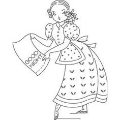 Pattern Detail | Housewife with Pillowcase | Needlecrafter