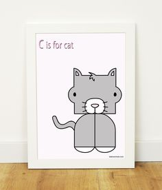 """C is for cat"" poster"