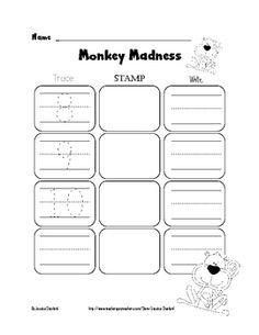 FREE Kindergarten Math Numbers - Trace, Stamp, Write