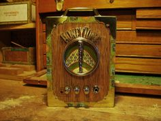 Cigar box guitar portable amplifier. $65.00, via Etsy.