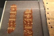 Oseberg tablet weaving, from museum