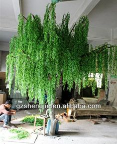 China Professtional Factory Make High Quality Fake Decorative Artificial Interior Willow Tree For
