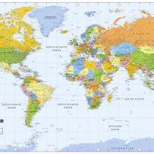 Verdenskort Verdenskort Fototapet Banner