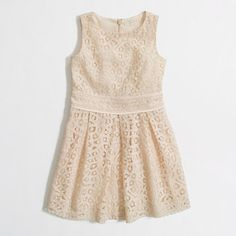 "This would be a cute flower girl dress!! J.crew Factory girls pleated lace party dress in ""apricot mist"""