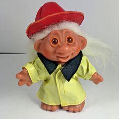 "Vintage 1986 DAM Fireman Troll Doll 5"" #DAM #DollswithClothingAccessories"