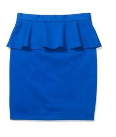 Club Monaco - Kate Peplum Skirt  Color: Dutch Blue