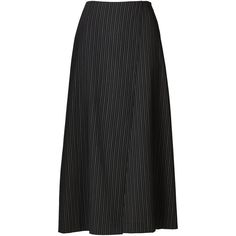 Rosalyn Pinstriped Culotte (€1.415) ❤ liked on Polyvore featuring pants, capris, pinstripe pants and pinstripe trousers