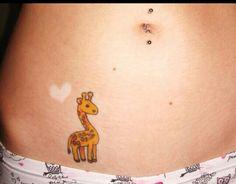 ... cartoon baby giraffe tattoo incredible rainbow giraffe tattoo by bryan