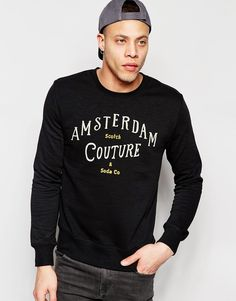 Product photo of Scotch soda amsterdam couture sweatshirt black