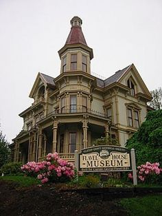 """Flavel House is a haunted place in Astoria, Oregon. It is an 1885 Queen Anne style Victorian home. Astoria is also where the movie """"The Goonies"""" was filmed. Pinned  8-18-2015."""