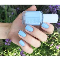 soft and inviting, nothing says summer on the ocean like this sugar-sweet atlantic blue essie 'saltwater happy' that stretches on and on.