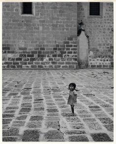 Church Courtyard, Morelia, Mexico  Godfrey B. Frankel 1946