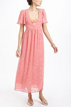 I like this look for at least one of the bridesmaid dresses.   Windswept Maxi Dress #anthropologie