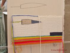 Tapestry by Fiona Rutherford, textiles artist, Art in Action 2014