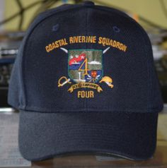 COASTAL RIVERINE SQUADRON 4 Custom made ball caps sell for  42.50 ea.  fronts only. 231c2b3ddc6