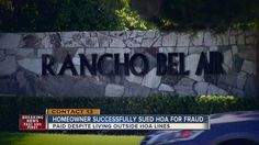 HOA HALL OF SHAME: Homeowner sues Rancho Bel Air - YouTube