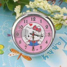 Cute cat pink mini table clock