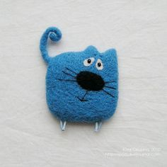 brooch - there are more felted lovelties!