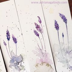 Bookmark / marcador de página em aquarela / marcador de livro, floral, flores flower, aquarela, watercolor, namaste, brindes, gift, crafts, wedding invitation, ideas, adrianagalindo. lavender, lavanda,  Shop: drigalindo1@gmail.com . Copyright Adriana Galindo