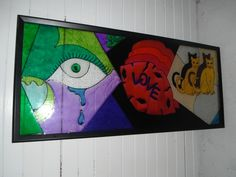 Large glass painting