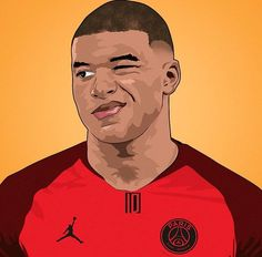 Sports – Mira A Eisenhower Football Player Drawing, Soccer Drawing, Football Art, Football Players, Mbappe Psg, Messi And Neymar, Paris Images, Manchester United Football, Football Pictures
