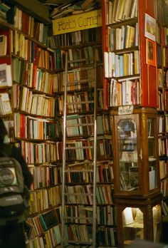 The Abbey Bookshop, Paris, France (not only do they have this charmingly labelled poet's corner, the Canadian owner will offer you coffee sweetened with maple syrup while you browse)