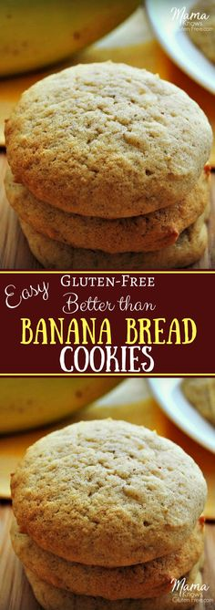 Better than banana bread! These gluten-free banana cookies are super moist, yet light and fluffy. An easy gluten-free cookie recipe your whole family will love.